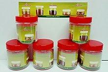 dpny 6x airtight food & spice plastic storage