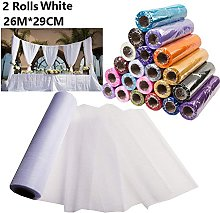 Dproptel 26M X 29CM Organza Roll Sashes Fabric