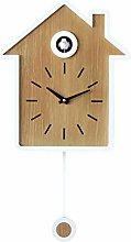 Dpsyszd Wall clock Simple Modern Cuckoo Wall Clock