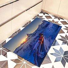 DQLREW Doormat 3D printing floor mat bath mat Snow