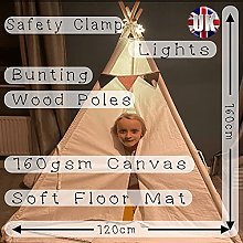 Dr Clever Teepee Tent for Kids Deluxe Padded Floor