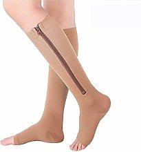 Dr.CURVY 3 Pairs Compression Socks Zipper, 15-20