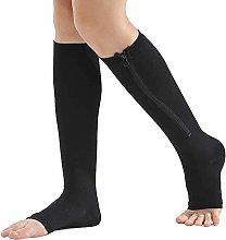 Dr.CURVY 3 Pairs Compression Socks Zipper Open Toe