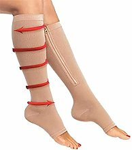 Dr.CURVY 3 Pairs Open Toe Compression Socks, 15-20