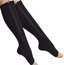 Dr.CURVY 3 Pairs Womens Zip Up Compression Socks