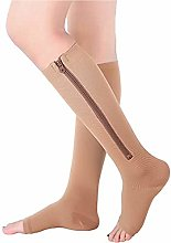 Dr.CURVY 3 Pairs Zip Up Compression Socks Guard
