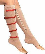 Dr.CURVY 3 Pairs Zipper Medical Compression Socks
