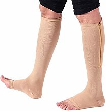 Dr.CURVY 3 Pairs Zippered Compression Socks Women