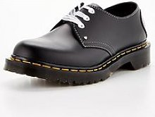 Dr Martens 1461 Hearts Flat Shoe - Black