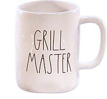 DR Rae Dunn Grill Master Mug White with Black