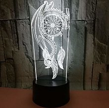 Dragon Beautiful Dream Catcher 3D Illusion Lights