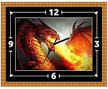 Dragon Myth Fantasy Wall Clock Gift Present