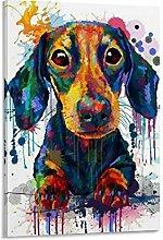 DRAGON VINES Dachshund Painting Weiner Dog Canvas