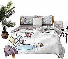 DRAGON VINES double bed Home textile Flower Pot