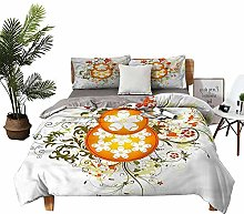 DRAGON VINES double bed Home textile Flowers with