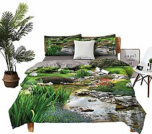 DRAGON VINES double bed Home textile Pond and