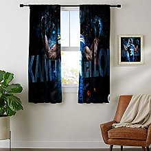 DRAGON VINES Rod pocket blackout curtains Printed