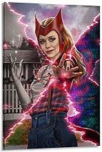 DRAGON VINES Wandavision Scarlet Witch Modern Oil
