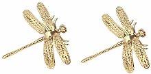 Dragonfly Brass Furniture Handles Elegant Door