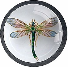 Dragonfly Gemstone Drawer Handle 4 Pieces Home