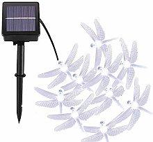 Dragonfly Solar String Lights Outdoor, DINOWIN