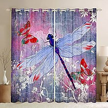 Dragonfly Window Curtains Butterfly Curtain Panels