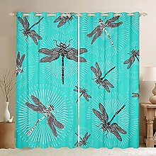 Dragonfly Window Curtains Wild Animals Curtain