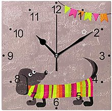 DragonSwordlinsu COOSUN Dachshund Dog Wall Clock