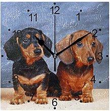 DragonSwordlinsu COOSUN Dachshunds Dog Wall Clock
