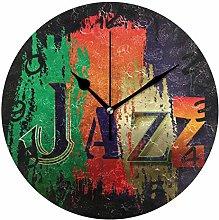 DragonSwordlinsu COOSUN Jazz Wall Clock Silent Non