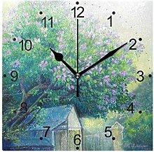 DragonSwordlinsu COOSUN Lilac Tree Wall Clock