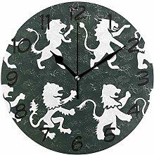 DragonSwordlinsu COOSUN Lion Rampant Wall Clock