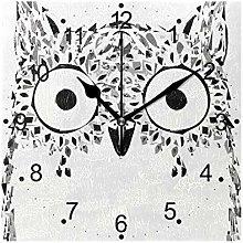 DragonSwordlinsu COOSUN Owl Animal Wall Clock