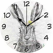 DragonSwordlinsu COOSUN Rabbit Wall Clock Silent