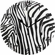 DragonSwordlinsu COOSUN Zebra Pattern Wall Clock