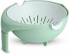 Drain Basket, Colander Plastic with Handle,