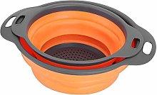 Drain Basket,Foldable Drain Basket Colander Fruit