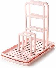 Drain Rack Kitchen Pink Multifunctional Adjustable