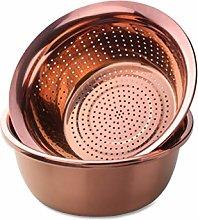 Draining Basket, Metal Colander Washing Basin