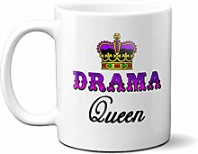 Drama Queen Purple Crown 15oz Ceramic Mug