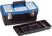 Draper 53878 Tool Organiser Box with Tote Tray,
