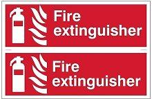 Draper 72444 2 x 'Fire Extinguisher' Fire