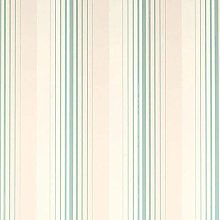 Draper Stripe Duck Egg Wallpaper Cream Teal Blue