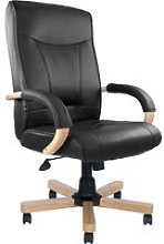 Drave High Back Executive Armchair (Leather),