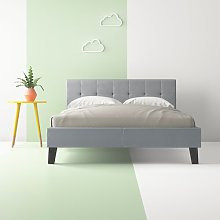 Dravin Low Headboard Upholstered Bed Frame Hashtag