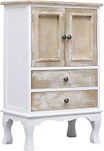 Drawer Cabinet White 50x30x80 cm Wood QAH24722 -