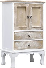 Drawer Cabinet White 50x30x80 cm Wood VD24722 -