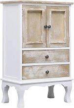 Drawer Cabinet White 50x30x80 cm Wood - White -