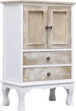 Drawer Cabinet White 50x30x80 cm Wood