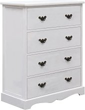 Drawer Cabinet White 60x30x75 cm Wood QAH24721 -